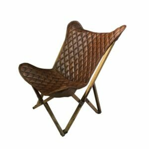 Vlinderstoel Bella - Bruin